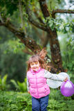 Cute little girl with balloons Stock Images