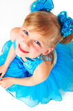 Cute little girl in ballroom dress Stock Images