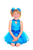 Cute little girl in ballroom dress Stock Photography