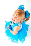 Cute little girl in ballroom dress Royalty Free Stock Photos