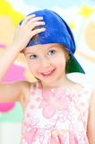 Funny girl in a cap Royalty Free Stock Images