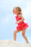 Cute little girl at beach Royalty Free Stock Images