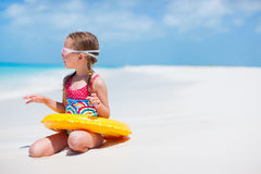 Cute little girl at beach Royalty Free Stock Photos