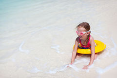 Cute little girl at beach Stock Image