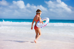 Cute little girl at beach Royalty Free Stock Photography