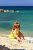 Cute little girl on the beach Royalty Free Stock Photography