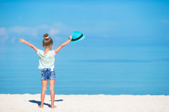 Cute little girl at beach during summer vacation Stock Photography