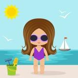 Cute little girl on the beach Stock Photography