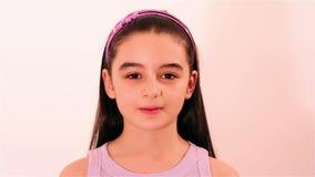 Cute little girl stock video footage