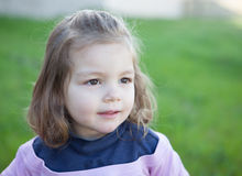 Cute little girl with a beautiful smile Royalty Free Stock Image
