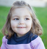 Cute little girl with a beautiful smile Royalty Free Stock Images