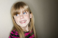 Cute little girl with a big smile Royalty Free Stock Photo