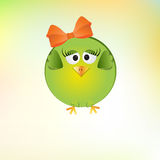 Cute little girl bird Stock Photography