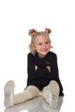 Cute little girl in black dress Stock Image