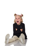 Cute little girl in black dress Royalty Free Stock Photography