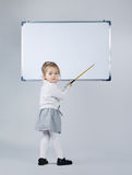 Cute little girl with blackboard Royalty Free Stock Photos