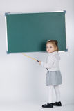 Cute little girl with blackboard Stock Images