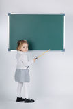 Cute little girl with blackboard Royalty Free Stock Images