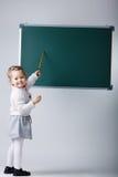 Cute little girl with blackboard Royalty Free Stock Image