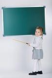 Cute little girl with blackboard Stock Photo