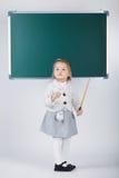 Cute little girl with blackboard Royalty Free Stock Photo