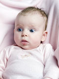 Cute little girl with blue eyes Royalty Free Stock Photo