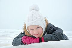 Cute little girl with blue eyes Royalty Free Stock Image