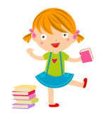 A cute little girl and book Royalty Free Stock Photo