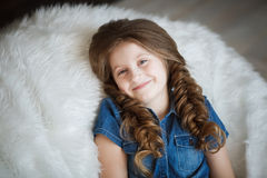 Cute little girl with braids Royalty Free Stock Images