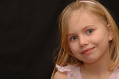 Cute Little Girl with Bright Eyes Royalty Free Stock Photography