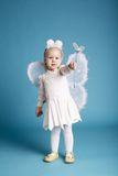 Cute little girl with butterfly costume Stock Images