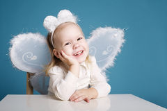 Cute little girl with butterfly costume Stock Photography