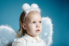 Cute little girl with butterfly costume Stock Image