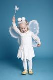 Cute little girl with butterfly costume Royalty Free Stock Images