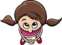 Cute little girl cartoon character Stock Photography