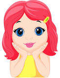 Cute little girl cartoon posing Stock Photography