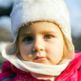 Cute little girl on child playground Royalty Free Stock Image
