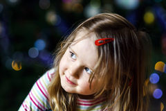 Cute little girl christmas portrait Stock Photography