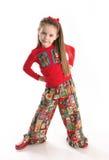 Cute little girl in Christmas wear Stock Image