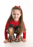 Cute little girl in Christmas wear Royalty Free Stock Photo