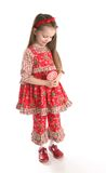 Cute little girl in Christmas wear Royalty Free Stock Photos