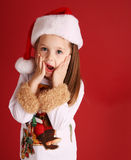 Cute little girl in Christmas wear Stock Photography