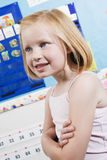 Cute Little Girl In Classroom Royalty Free Stock Photos