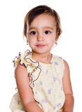 Cute little girl close-up. Isolated on white background Stock Photos