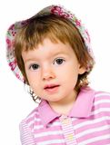 Cute little girl close-up Royalty Free Stock Photo