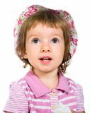 Cute little girl close-up Royalty Free Stock Photos