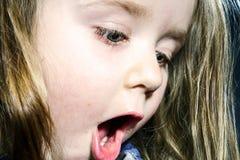 Cute little girl close-up face portrait Stock Photos