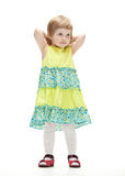Cute little girl in colorful dress Stock Photo