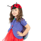 Cute little girl in costume Royalty Free Stock Image