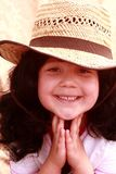 Cute little girl in cowboy hat Royalty Free Stock Images
